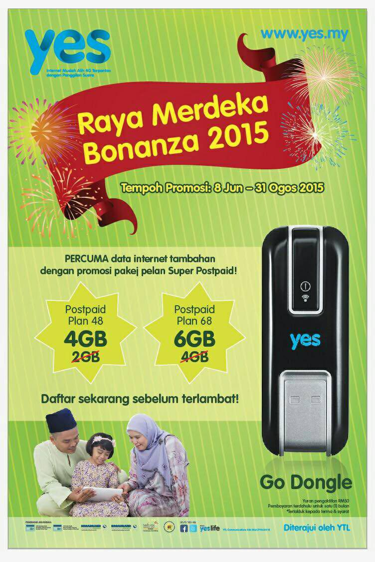 YES 4G Raya Merdeka Bonanza 2015